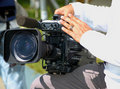 Professional Television Camera Royalty Free Stock Images