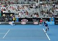 Professional tennis at the 2012 Australian Open Royalty Free Stock Photo