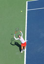 Professional tennis player christina mchale during her first round match at us open flushing ny august against julia goerges Royalty Free Stock Photos