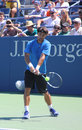 Professional tennis player fabio fognini from italy practices for us open flushing ny august at billie jean king national Stock Photo