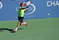 Professional tennis player grigor dimitrov from bulgaria practices for us open at billie jean king national tennis center flushing Stock Images