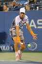 Professional tennis player Tomas Berdych from Czech Republic during US Open 2014 match Royalty Free Stock Photo