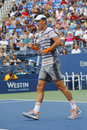 Professional tennis player Tomas Berdych from Czech Republic during US Open 2014 round 3 match Royalty Free Stock Photo