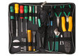 Professional tool kit case for network computer repair Royalty Free Stock Photo