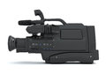 Professional video camera side view Royalty Free Stock Photo