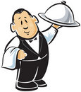 Professional waiter Royalty Free Stock Photos