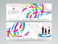 Professional website header or banner set for business. Royalty Free Stock Photo