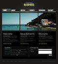 Professional website template Royalty Free Stock Image