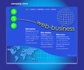 Professional Website Template Royalty Free Stock Photo