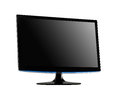 Professional widescreen computer monitor on white background Royalty Free Stock Photography