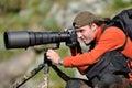 Professional wildlife photographer Royalty Free Stock Photo