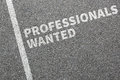 Professionals wanted jobs, job working professional recruitment Royalty Free Stock Photo