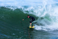 Professionele surfer shawn barron surfing california Royalty-vrije Stock Afbeelding
