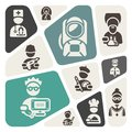 Professions background people icon set Stock Photos