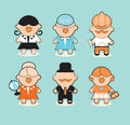 Professions icons set Royalty Free Stock Images