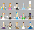 Professions people of different and specialties Royalty Free Stock Photos