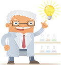Professor get an idea Royalty Free Stock Photos