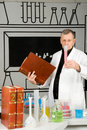 Professor in the laboratory Royalty Free Stock Images