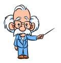 Professor lecturer illustration  cartoon Royalty Free Stock Photo