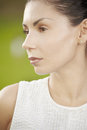 Profile beauty portrait Royalty Free Stock Photos