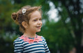 Profile of cute little girl Royalty Free Stock Photo