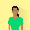 Profile icon female african american avatar woman portrait casual person silhouette face flat design vector Royalty Free Stock Photography