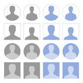 Profile icons set of round and square Royalty Free Stock Photos