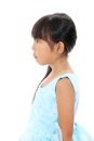 Profile of little asian girl Royalty Free Stock Photos