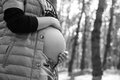 Profile of pregnant woman Royalty Free Stock Photo