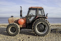 Profile Of Red Tractor On The ...
