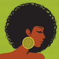 Profile silhouette, African-American woman