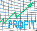 Profit chart graph shows increase cash wealth showing revenue Stock Photos