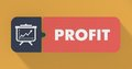 Profit Concept in Flat Design. Royalty Free Stock Image