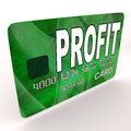 Profit on Credit Debit Card Shows Earn Money Royalty Free Stock Photography