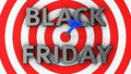 Profit goal the concept of black friday with a hit right on target Royalty Free Stock Images