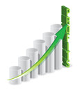 Profit graph business Stock Image