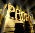 Profit monument Royalty Free Stock Photography