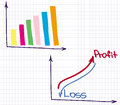 Profit revenue chart financial of and loss Stock Photography