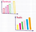 Profit revenue chart financial of and loss Royalty Free Stock Photography