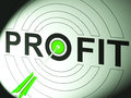 Profit Shows Business Success In Trading Royalty Free Stock Photo