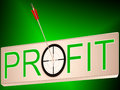 Profit Shows Earning Revenue And Business Growth Stock Photography