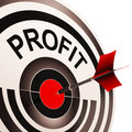 Profit shows market and trade earning investment earnings Royalty Free Stock Photo
