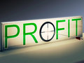 Profit target means market and trade income meaning Stock Images