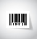 Profits upc barcode illustration design over a white background Stock Image