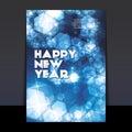 Progettazione dell aletta di filatoio o della copertura del nuovo anno Fotografia Stock