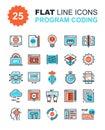Program Coding Icons Royalty Free Stock Photo