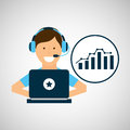 Programer character development statistics Royalty Free Stock Photo