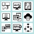 Programming icons Royalty Free Stock Photography