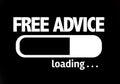 Progress Bar Loading with the text: Free Advice Royalty Free Stock Photo