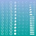 Progress bar set of contour bars with percentages Stock Image